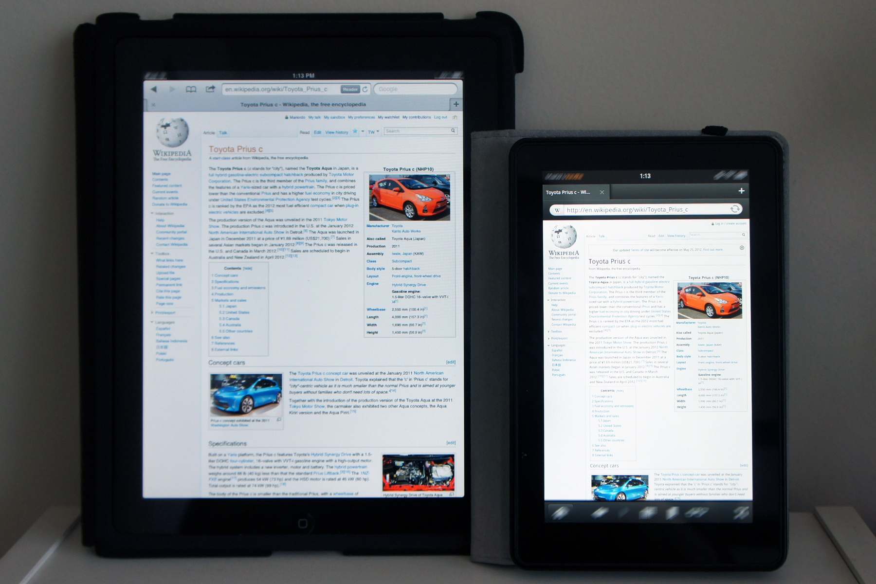Kindle Fire & iPad
