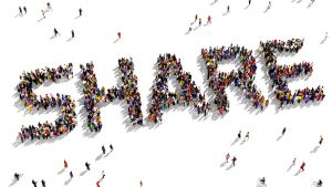 "Large group of people seen from above gathered together in the form of ""SHARE"" text; Shutterstock ID 261282884; user id: 13284147; user email: hezuo@huxiu.com; user_country: China; discount: 38%"