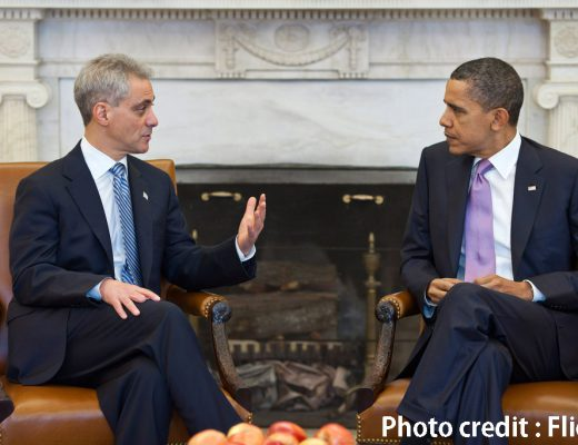 President Barack Obama meets with Chicago Mayor-elect Rahm Emanuel in the Oval Office, March 4, 2011. (Official White House Photo by Pete Souza)  This official White House photograph is being made available only for publication by news organizations and/or for personal use printing by the subject(s) of the photograph. The photograph may not be manipulated in any way and may not be used in commercial or political materials, advertisements, emails, products, promotions that in any way suggests approval or endorsement of the President, the First Family, or the White House.?